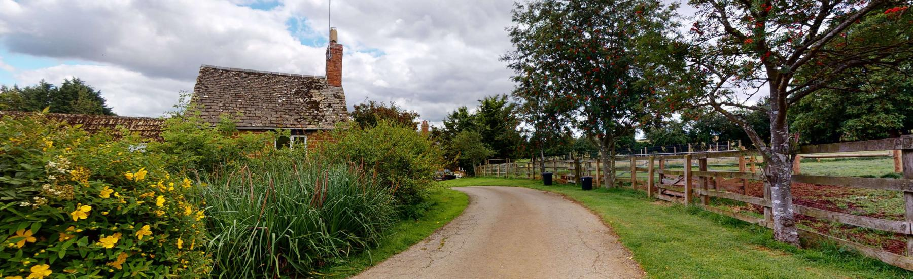 Picturesque village with cottages made from honey coloured stone